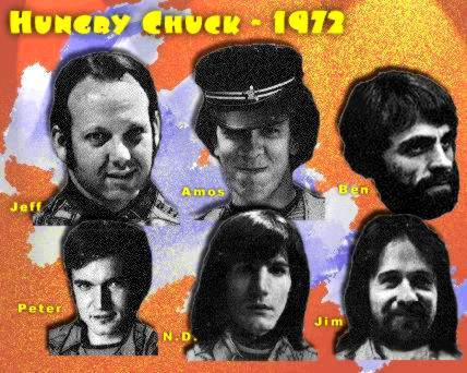 Photos from inside cover of Hungry Chuck LP, 1972